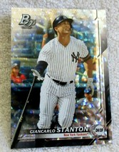 Giancarlo Stanton 2019 Bowman Platinum Ice Refractor Card#100 PSA10?Yank... - $9.89