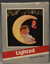 Hallmark - Moonlit Nap - Angel Napping on Moon - Lighted - Keepsake Ornament - $11.26