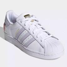 Adidas Originals Superstar W White/ Purple Tint/Gold GZ8143 - $138.00