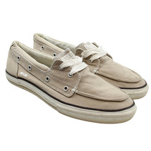 CONVERSE One Star Mens Size 11 Beige Tan Canvas Boat Shoes Sneakers - $29.69