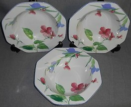 Set (3) Mikasa Gallery FRENCH SILK PATTERN Vegetable or Serving Bowls - $29.69