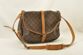 LOUIS VUITTON Monogram Saumur 35 Shoulder Bag M42254 LV Auth 10698 - $320.00