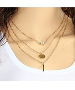 Meily Wish Bone Wild Fashion Metal Chain Necklace Pendant Three Personality - $7.99
