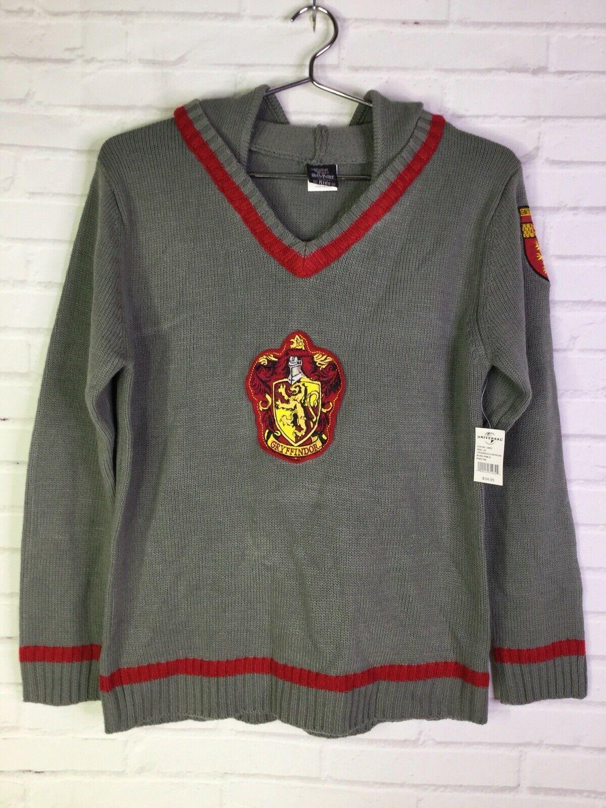 Wizarding World of Harry Potter Kids XL Gray Hoodie Sweatshirt Universal Studios - $39.59