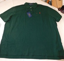 Polo Ralph Lauren Short Sleeve Polo Shirt XXL Classic Fit 735125 green red pony - $49.00