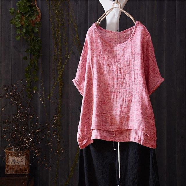 ZANZEA 2018 Summer Women Blouse Short Batwing Sleeve Casual Shirt Solid Loose Bl