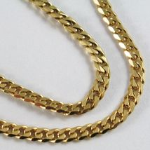 MASSIVE 18K GOLD GOURMETTE CUBAN CURB CHAIN 2.8 MM 24 IN. NECKLACE MADE IN ITALY image 6