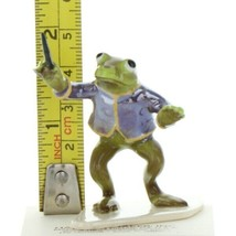 Hagen Renaker Miniature Frog Toadally Brass Band Conductor Ceramic Figurine image 2