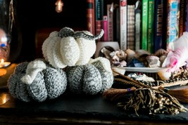 Crocheted Christmas Pumpkin - Stuffed Toy, Decoration, Handmade Wicca Yo... - $11.03