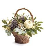 Fall Arrangement Basket with Pumpkins - $34.95