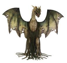 Huge 7Ft Green Winter Dragon Animated Thrones Dead Zombie Deluxe Halloween Prop - $455.78