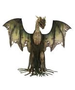 Huge 7Ft GREEN WINTER DRAGON ANIMATED Thrones Dead Zombie Deluxe Hallowe... - $455.78