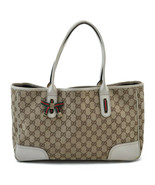 GUCCI Sherry Line GG Canvas Hand Bag Brown White Auth 4446 - $224.00