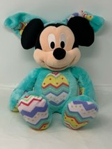 Disney Store Plush Mickey Mouse in Easter Bunny Costume Soft Stuffed Ani... - $12.86