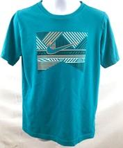 Nike Athletic Shirt Unisex Size Medium (10-12) Teal Graphic 100% Cotton ... - $23.02