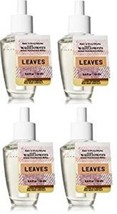 4 Bath & Body Works Leaves Wallflower Home Fragrance Refill Bulb - $29.99