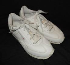 Vintage Reebok White Leather Walking Comfort Shoes Women's Size 6.5 Medium - $17.99