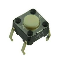 Tactile Switch, B3F Series, Top Actuated, Through Hole, Round Button, 100 gf, 50 - $14.75