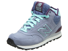 New Balance Womens 574 Classic Shoes Grey/Green WH574-PI - $82.20
