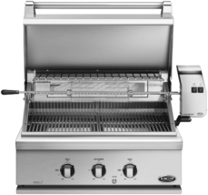 DCS 30-Inch Built-In Propane Gas Grill with Rotisserie, Stainless, BGC30... - $2,549.88