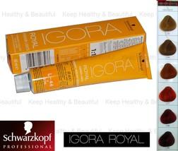 1 x Schwarzkopf IGORA Permanent Color Creme 60 ml  - $9.50