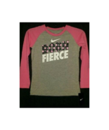 Nike Girl's T-Shirt Born Fierce Long-Sleeve Size 4 - $15.00