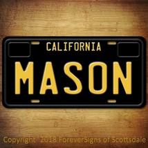 Mason California Name License Plate Aluminum Vanity Tag - $16.82