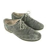 Cynthia Rowley Womens 9.5 SIAN Grey Suede Wingtip Oxfords Flats - $19.79