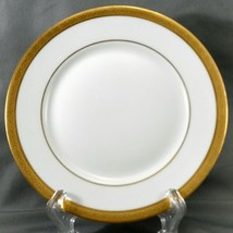 """Theo Haviland Monceau Bread and Butter Plate 6.25"""" White Limoges Gold En... - $12.87"""