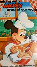 Vintage Disney World's Cooking with Mickey Around Our World Cookbook 1986 - $14.68