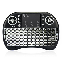 RII I8S QWERTY 2.4G Wireless White Backlit Mini Keyboard Air Mouse Touchpad - $460,53 MXN