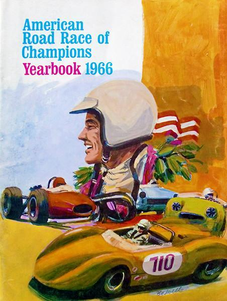 Primary image for 1966 American Road Race of Champions Yearbook - Cover Poster