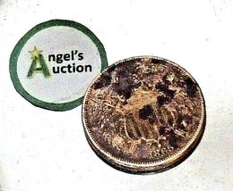 1865 Large Two-Cent Piece AA20-CNP2141 Antique image 5