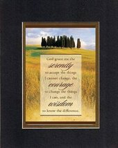 God grant me the serenity . . . 8 x 10 Inches Biblical/Religious Verses set in D - $11.14