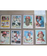 Topps Baseball Cards , Lot of 8 , All Cards Protected , Schmidt , Munson... - $39.51