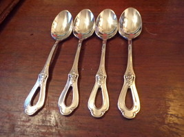 "4 Oneida Heirloom Glossy Cube Mark Toujours Teaspoons 6 1/8"" (1) - $119.00"