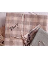 Vichy 32ct linen 20x20 cut cross stitch fabric Nikyscreations  - $24.00