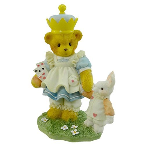 Primary image for Cherished Teddies Alicia Teddy Bear Looking Glass Rabbit - Resin 4.50 IN