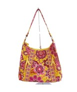 Vera Bradley 2009 Retired Bali Gold Medium Lisa B Shoulder Purse - $24.09
