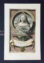 1700s antique MARGUERITE DE NAVARRE PRINCESS of FRANCE PRINT valck van d... - $124.95