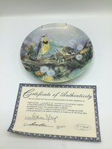 MOTHERS MELODY Nature's Poetry Collector Plate W S George Lena Liu blueb... - $9.89