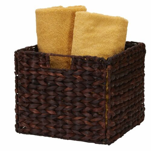 Woven Basket Storage Bin Keeper Box Carry Organizer Holder Toys Book Decor NEW