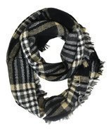 Modadorn Gradation Big Cable Knit Infinity Scarf (Gingham Plaid Pattern ... - $244,88 MXN