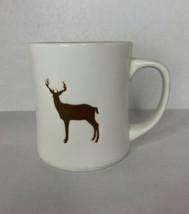 Starbucks Stag Coffee Mug Embossed 2008 Cup 12 oz Deer Elk White Collect... - $28.01