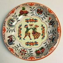 Vintage 1971 Daher Decorated Ware Tin Bowl Dutch Amish Folk Couple Pink ... - $8.99