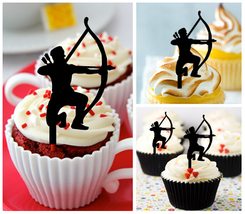 Ca331 Decorations cupcake toppers archer and arrow silhouette Package : ... - $10.00
