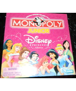 Monopoly Jr Disney Princess Edition  Board Game-Complete - $12.00