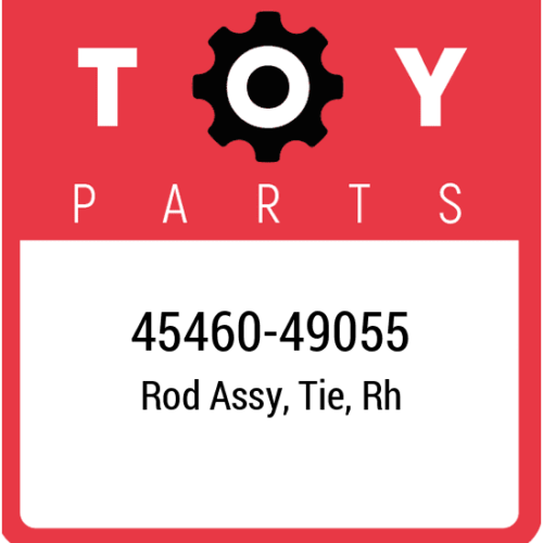 45460-49055 Toyota Rod Assy Tie Rh, New Genuine OEM Part