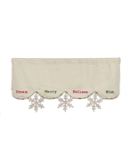 Christmas Wishes Mantle Scarf Holiday  - $37.99