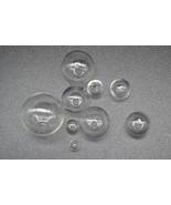 10pcs Mini Lightbulb Glass Globe bubble round ball with hole Diy hollow ... - $17.33